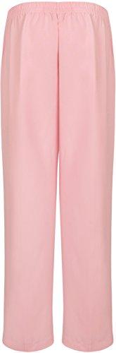 WearAll - Pantalon simple avec taille élastique et les poches - Pantalons - Femmes - Grandes tailles 40 à 52 Rose