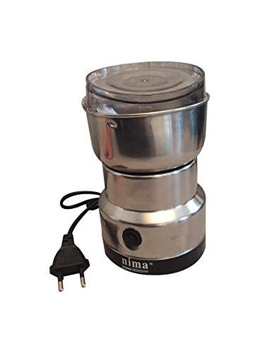 Lalia Kaffeemühle Elektrische Kaffeemühle Kaffeebohnen Nüsse Gewürze Getreide Mühle mit Edelstahlmesser 50g Fassungsvermögen (schwarz) Schlagmesser Mühle