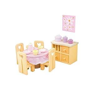 Papo Esszimmer  - Muebles de casa de muñecas de Madera (Surtido)
