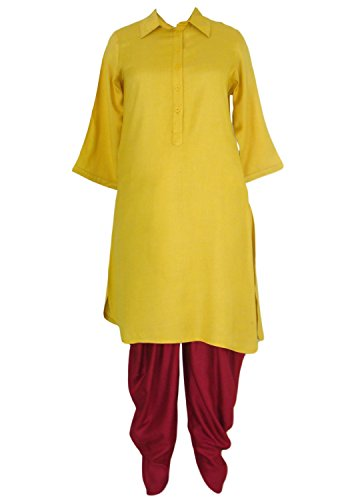 Patrorna Women's Bottle Green Kurti And Dhoti Pant/Salwar Set (Size S - 7XL)