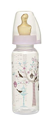 nip Standardflasche PP mit Trinksauger Anatomisch Latex, 5-18 Monate, Größe M, 250 ml, Girl