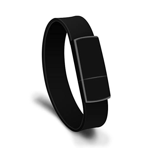 LJ2 Armband für USB-Sticks, 8 GB / 16 GB / 32 GB / 64 GB / 128 GB Memory Stick, USB 2.0-Lesegeschwindigkeit bis zu 15 MB/s, wasserdicht/für Datenspeicherung, gemeinsame Dateinutzung,A,16GB -