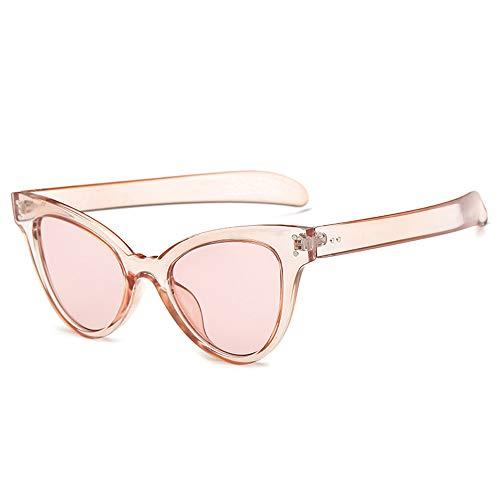 Yezijin_Sunglasses YEZIJIN Sonnenbrille mit Katzenaugen, Retro-Herzrahmen, UV400 Free Size Rose