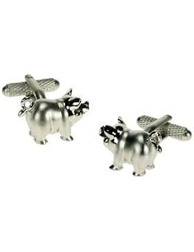 , Motiv Schweinchen mit gewellten Tail Manschettenknöpfe in Geschenkbox, Motiv