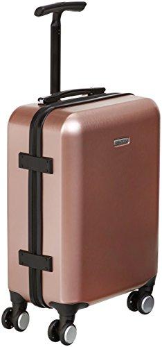 AmazonBasics - Trolley a 4 ruote multidirezionali, metallizzato, bagaglio a mano, 55 cm, Oro rosa