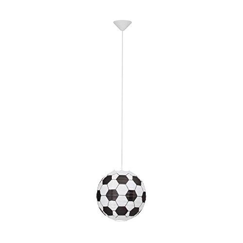 Lampenschirm Papier schwarz-weiß Fußball Muster ohne Pendel Brilliant SOCCER 56299P74 (Schwarzes Papier-lampenschirm)