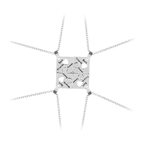 Amosfun 4 stücke Beste Freunde Für Immer Puzzle Halskette Abschluss Geschenk Freundschaft Halsketten Set Langstrecken Freund Halskette Freundschaft Schmuck