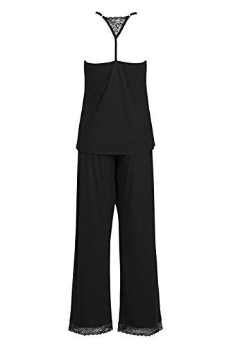 next Pyjama à coutures invisibles Standard Femme Noir
