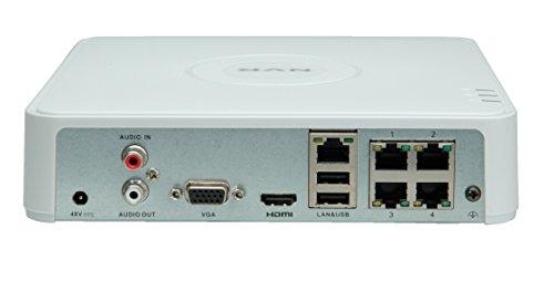 Value 4 Kanal NVR mit 4-Port PoE, VND0104P, Netzwerk-Video-Recorder mit 4 Kanälen und 1 Festplatteneinschub, 4 Port PoE Switch, lokaler VGA/HDMI Bildschirmanschluss