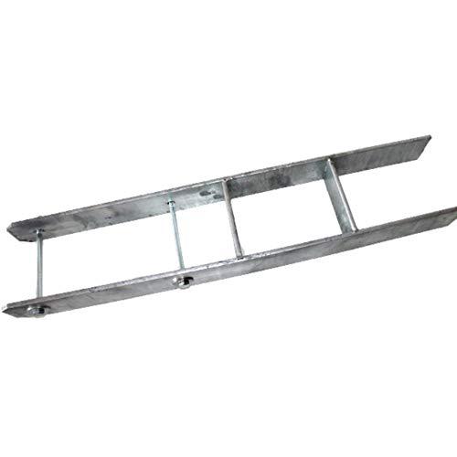 H-Anker 91 mm für Carport verzinkter Pfostenträger INKLUSIVE SCHRAUBEN 800 mm hoch 8 mm dick für Kanthölzer 9x9 cm