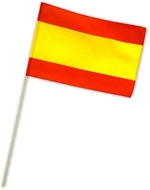 Preisvergleich Produktbild Fahne Flagge Spanien 30 x 45 cm mit Stab