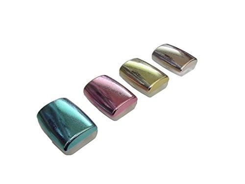 Kontaktlinsendose metallic mit Taschenspiegel, Applikator und Zange