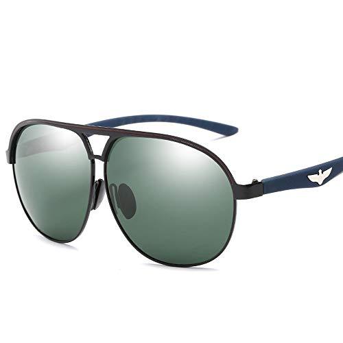 Trendy Men Driving Metal Polarized Aviator Sonnenbrille Polarisierte Sonnenbrille Brille (Color : 01Dark Green, Size : Kostenlos)