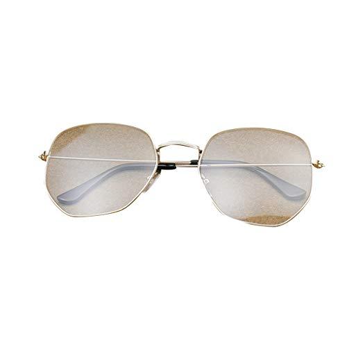 Luckiests Männer Frauen Schlanke Metallrahmen Plain Gläser Retro Vintage Eyewear freies Objektiv Unregelmäßige Brillen