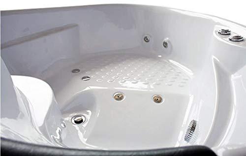"""OimexGmbH Eckwhirlpool 150 x 150 cm 2 Pers. """"Helsinki"""" Whirlpool Badewanne - 4"""