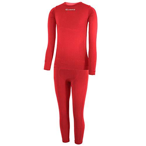 JAKO Kinder Kinderset Underwear Unterwäsche, Rot, 164/176