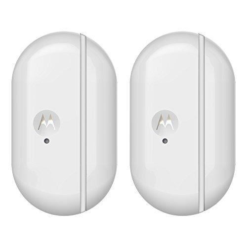 Motorola Smart Nursery Alert Sensor Duo Pack - 2x Capteurs connectés avec alertes pour les portes et fenêtres, couleur blanc