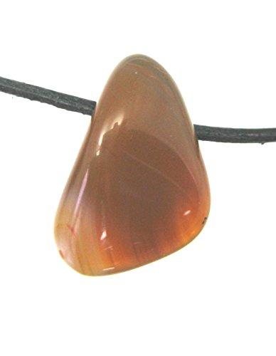 Trommelstein gebohrt Sarder 2 cm