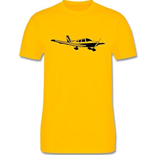 Andere Fahrzeuge - Propellerflugzeug - Herren Premium T-Shirt Gelb