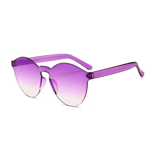 Noradtjcca Transparenter Rahmen Frauen Markenkreis Bunte Beschichtung Sonnenbrille Mode für Männer Mode Brille