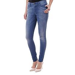 Diesel Doris SKinny0609Q Pantalones Vaqueros para Mujer Color Azul Azul 23 W