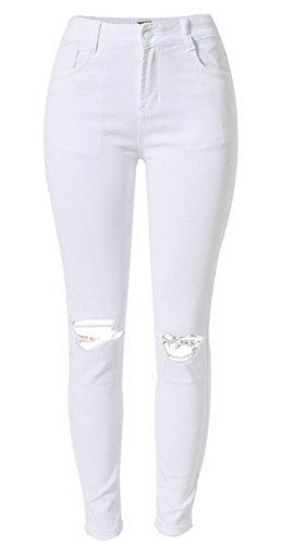 Alisa.Sonya - Jeans spécial grossesse - Femme blanc blanc Blanc