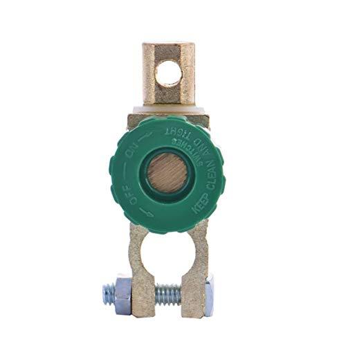 LouiseEvel215 Interruptor de enlace de terminal de batería de cobre de aleación de zinc Profesional Interruptor de Corte de desconexión rápida Interruptor aislante Accesorios para EL automóvil