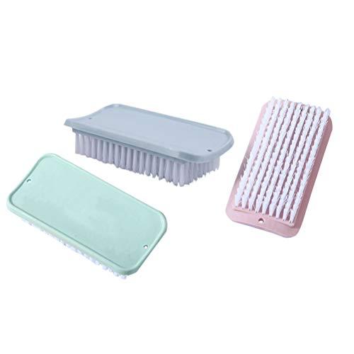 TOPBATHY6 Stücke Sauberen Pinsel Kunststoff Weiche Borsten Waschen Kleidung Schuhe Pinsel Hause Wäsche Haushaltswaren Reinigungswerkzeuge (Blau + Rosa + Grün) (Weichen Borsten Pinsel)