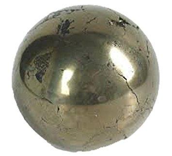 shivansh Creations 40–50mm natur Edelstein Kugel Ball Aura Balancing metaphysisch Ball (Golden Pyrit)