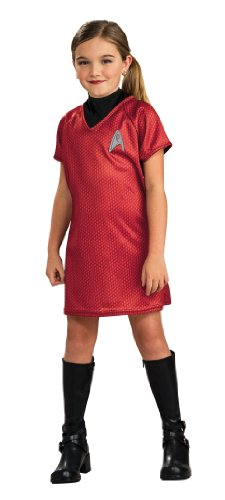 Kostüm Weiblich Star Trek - Rubie's 886463S Offizielles Star Trek Uhura Kostüm für Kinder, Größe S