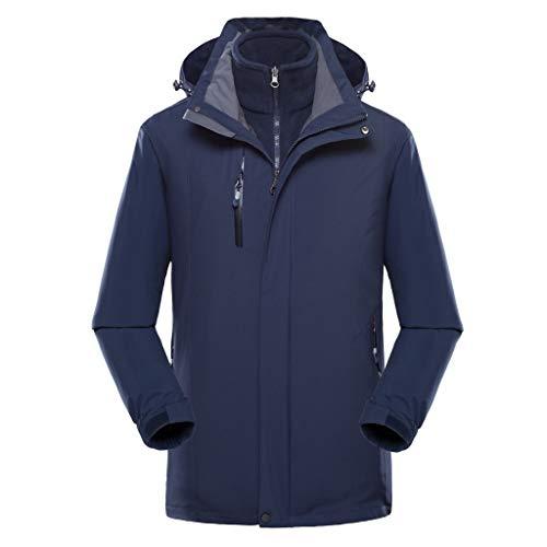 Nyuiuo Männer Plus Size wasserdichte Hoodie Hut abnehmbare atmungsaktive Sport Outdoor-Mantel Oberbekleidung Mantel Jacken Mantel Top Bluse Herren Jacke Warm Stylisch Mantel -