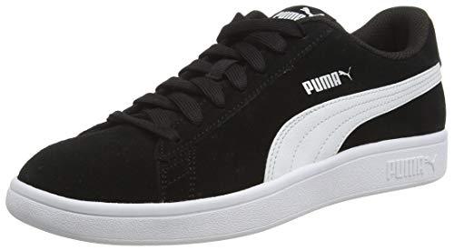 Puma Puma Smash v2, Unisex-Erwachsene Sneakers, Schwarz (Puma Black-Puma White-Puma Silver), 42 EU