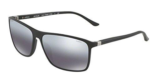 Occhiali da sole starck eyes 0sh5018 matte black/grey silver shaded uomo