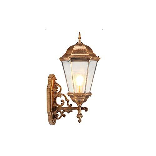 Wasserdichte Wandlampe für den Außenbereich ZS, Im europäischen Stil wasserdichte Wandleuchte im Freien Balkon Eingang Hof Villa Wand hängen Lampen, antikes Kupfer -