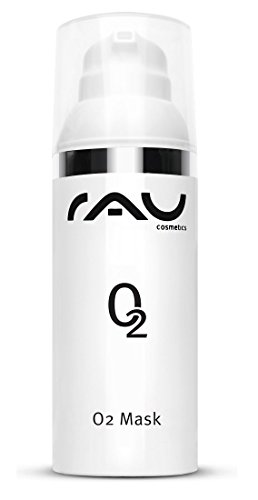 Gesichtsreinigung - Anti-Aging Gesichtsmaske gegen Pickelmale & Raucherhaut mit Aloe Vera, Arnika und Ginkgo - Tiefenreinigung & durchblutungsfördernd - einfache Anwendung & Entfernung - Rau O2 Mask 50ml
