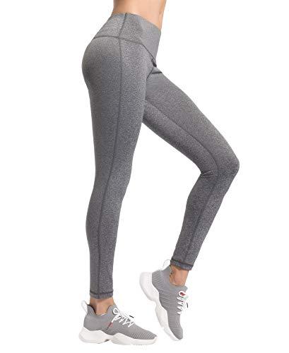 QUEENIEKE Damen Power Flex Yoga Hosen Training Laufende Leggings Farbe Graue Melange Größe L(12 -