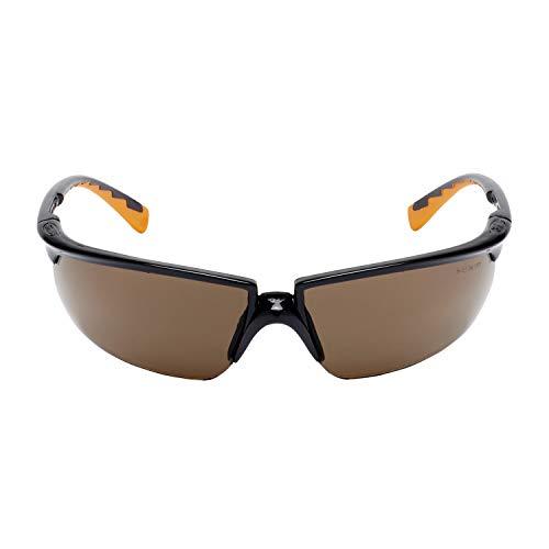 3M Solus Schutzbrille SOLBC1, bronze - Arbeitsschutzbrille für leichte Reparaturarbeiten - Anti-Kratz- & Anti-Beschlag-Beschichtung