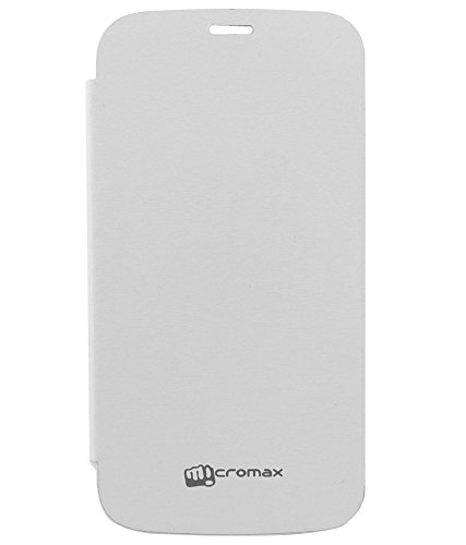 Evoque Flip Cover For Micromax Canvas Turbo Mini A200 -White  available at amazon for Rs.149