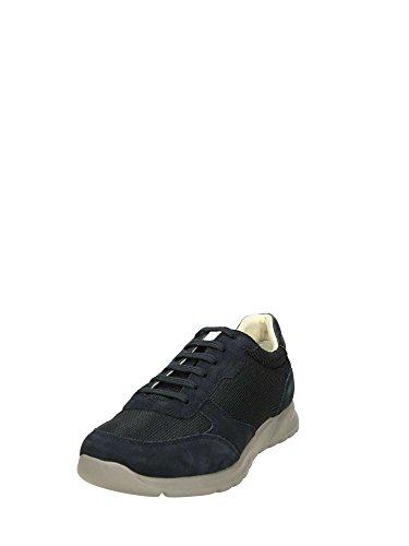 Geox U Damian C, Sneakers Basses Homme Bleu
