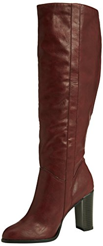 New Look - Disoronno - 70's Pull On, Stivali Donna Rosso (Red (62/Deep Red))