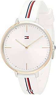 Tommy Hilfiger Women's White Dial White Silicone Watch - 178