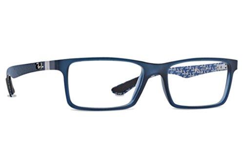 ray-ban-optical-rx8901-demi-gloss-blue-frame-plastic-eyeglasses-53mm