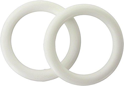 ATELIERS 28 Anneau Blanc Plastique - Diamètre 35 mm - Vendu par 10