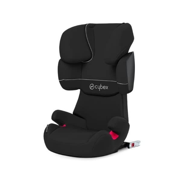 CYBEX Silver Solution X-Fix Child's Car Seat, For Cars with and without ISOFIX, Group 2/3 (15-36 kg), From approx. 3 to approx. 12 years, Pure Black  Group II / III car seat suitable 15-36 kg (approx. 3-12 years) Features a double-chamber system for greater impact protection Includes ISOFIX Connect for extra stability and safety. Enhanced safety and stability and easy one-click installation 2