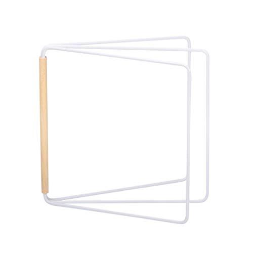 PRENKIN Küche 3 Tier Vertikal Handtuchständer Rack Eisen Duster Tuch Speicher Organisator Waschtuch Draining Shelf (Einstellbar Tuch Rack)