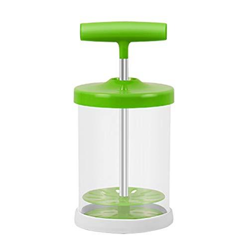 Hemoton 1 stück Handmilchaufschäumer ABS Handpumpe Milchschäumer Handmilchaufschäumer Krüge Handbetriebene Milchschaummaschine für Cappuccinos und Kaffee Latte (Grün)