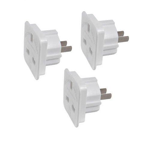 [3Pack] Travel Adapter konvertiert UK Stecker-Stecker zu 2Pin (flach)-USA/Kanada/Australische, auf 3-Pin-UK-/EU 2Pin Buchse [weiß] [Energieeffizienzklasse A + + +] (Travel Adapter Konvertiert)