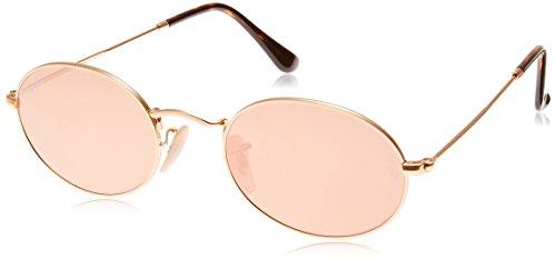 Ray-Ban Unisex-Erwachsene Sonnenbrille Rb 3547n Gestell: Gold,Gläser: Kupfer 001/Z2), Medium (Herstellergröße: 51)