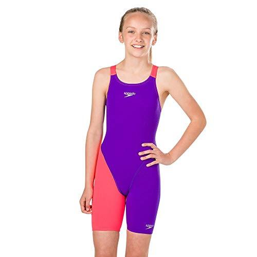 Speedo Baby End+ Kskn Jf Badeanzug, Purple/Red, (Schwimmen Kostüm Mädchen Speedo)