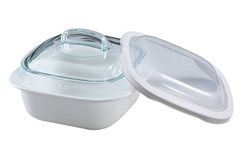 corelle-14l-vitrelle-glass-lightweight-bake-serve-store-square-baker-with-glass-and-plastic-covers-w
